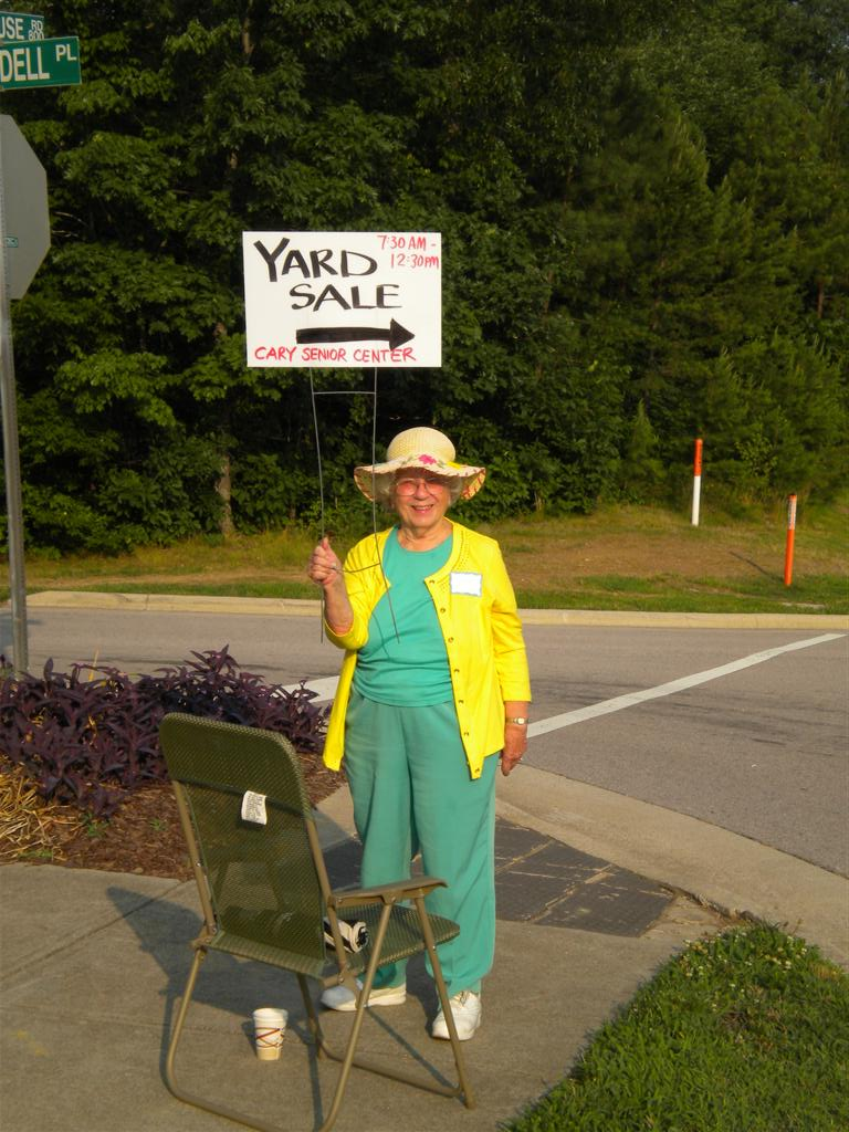 Senior Center Yard Sale Town Of Cary