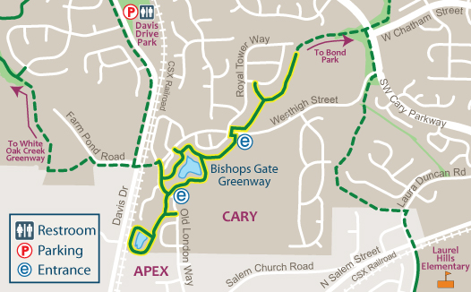 Bishops Gate Greenway Map