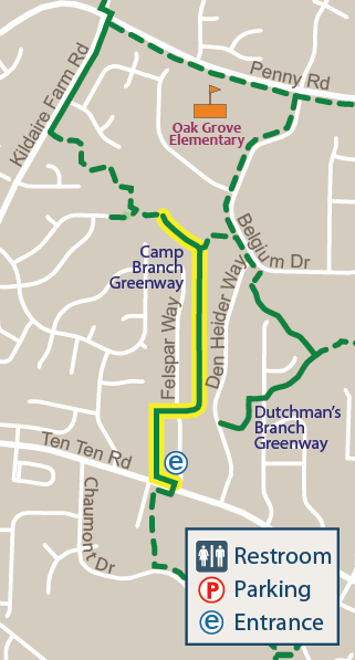 Camp Branch Greenway Map