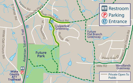 Copperleaf Greenway Map