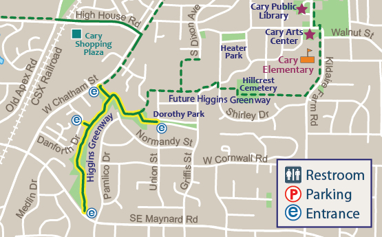 Higgins Greenway Map
