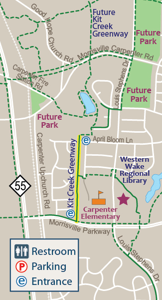 Kit Creek Greenway Map