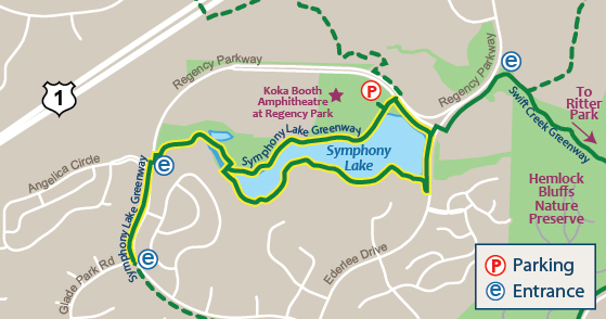 Symphony Lake Greenway Map