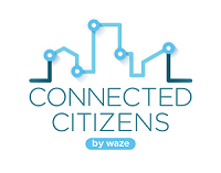 Waze Connected Citizens Program Logo (White)
