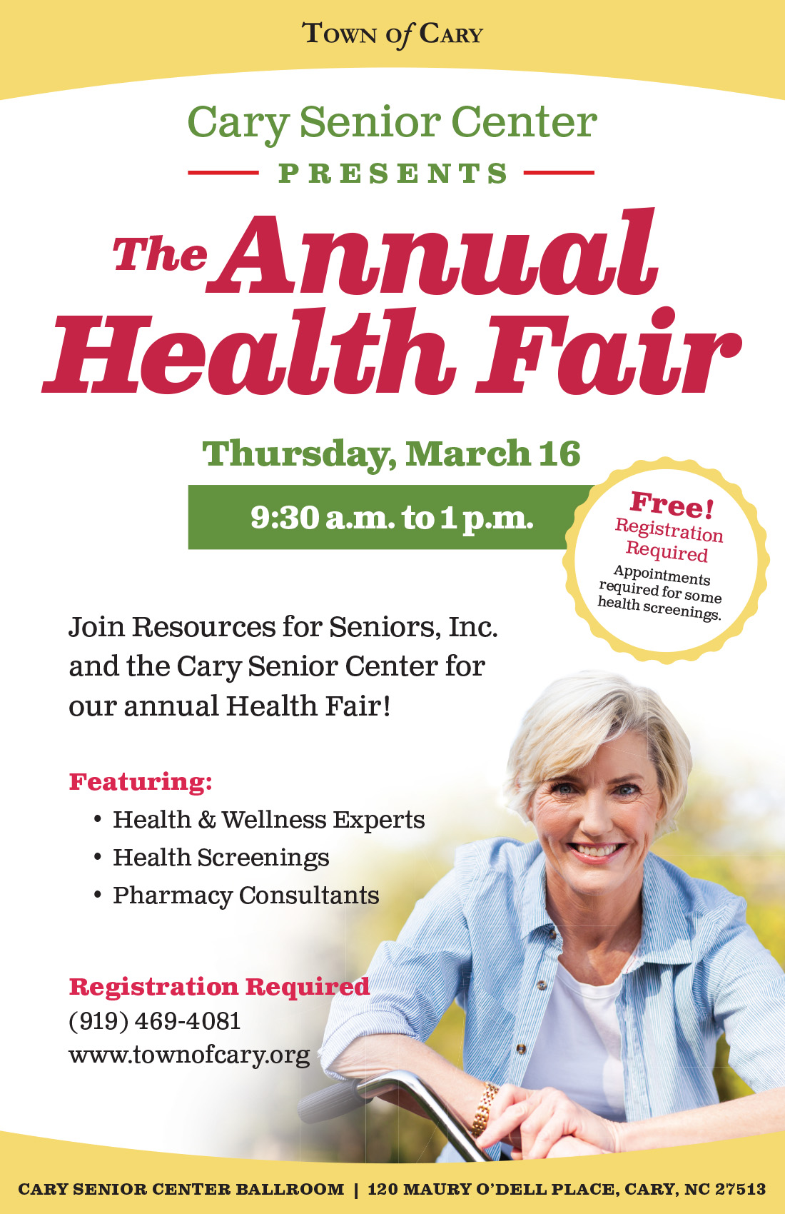 Take Charge of Your Wellbeing with Cary Senior Center's Health Fair