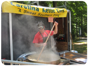 Man Cooking Kettle Corn