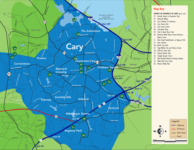 Cary CVB Map - Resized