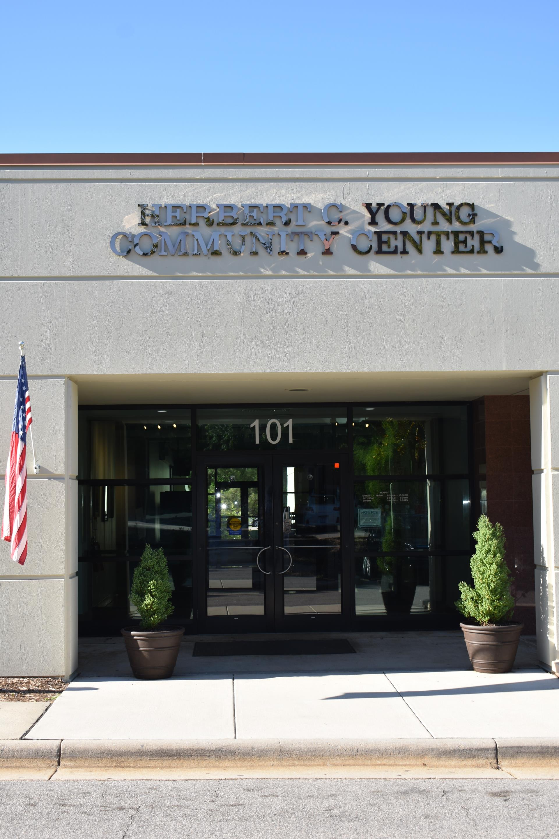 Herbert C. Young Community Center Main Entrance