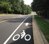Striped Bike Lane