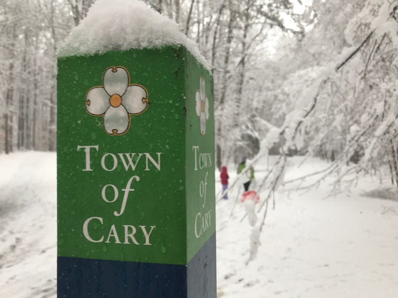 Town of Cary Greenway Sign