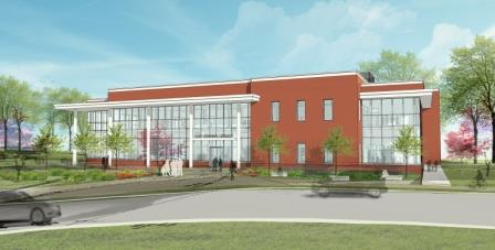 Web-Cary Library Exterior Rendering