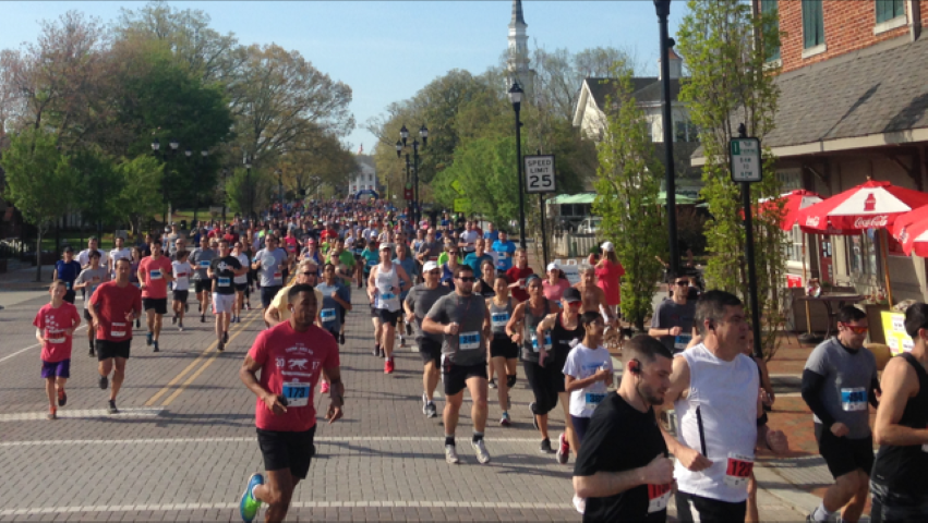 Runners in the Cary Road Race
