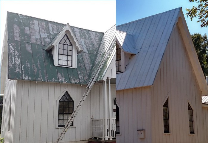 Ivey Ellington Roof before and after image