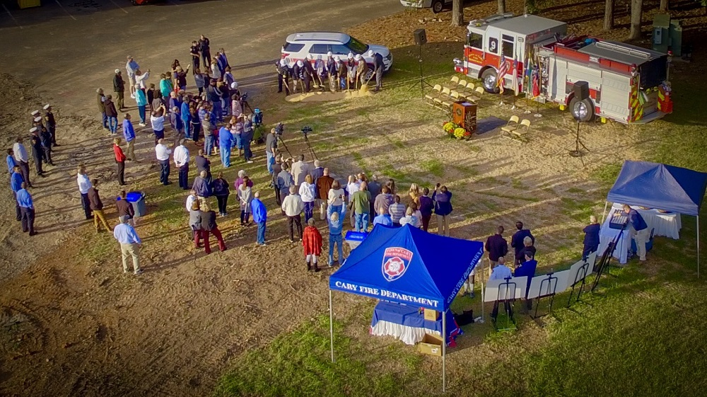 Fire Station 9 Groundbreaking Aerial image