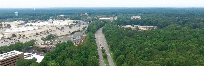 Cary Towne Center Blvd Aerial