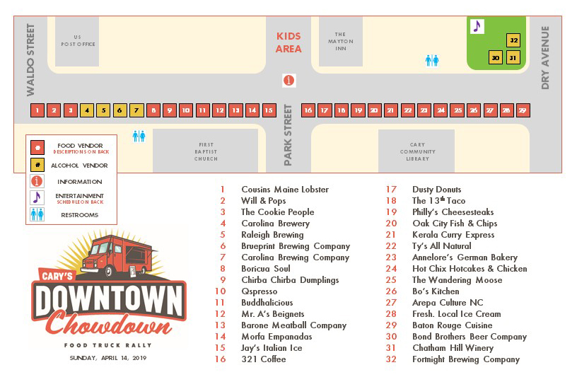 April 2019 Chowdown Map Image
