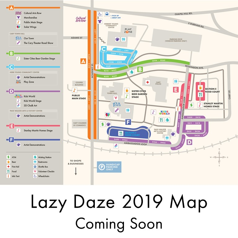 Lazy Daze 2019 Map Coming Soon
