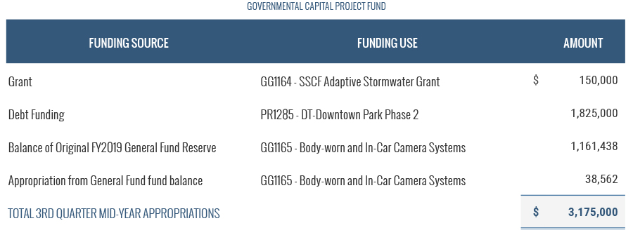 Governmental Capital Project Fund