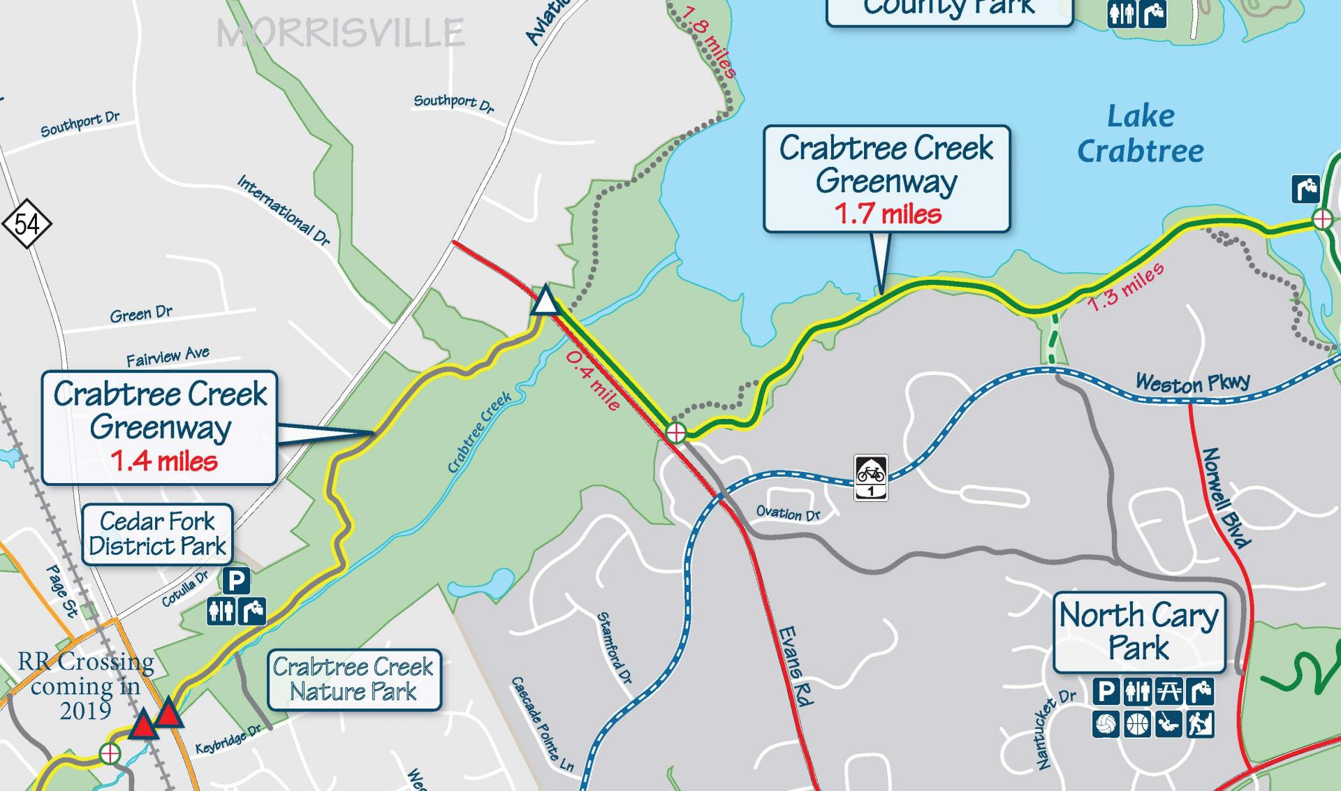 Crabtree Lake Segment Greenway-map