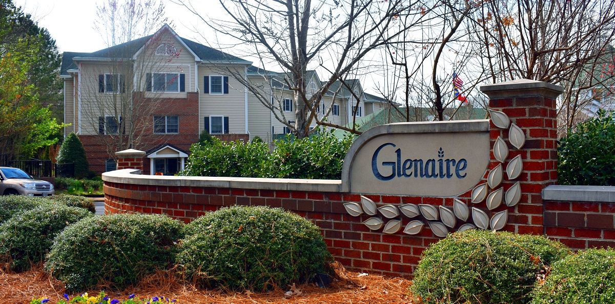 Entrance to Glenaire neighborhood