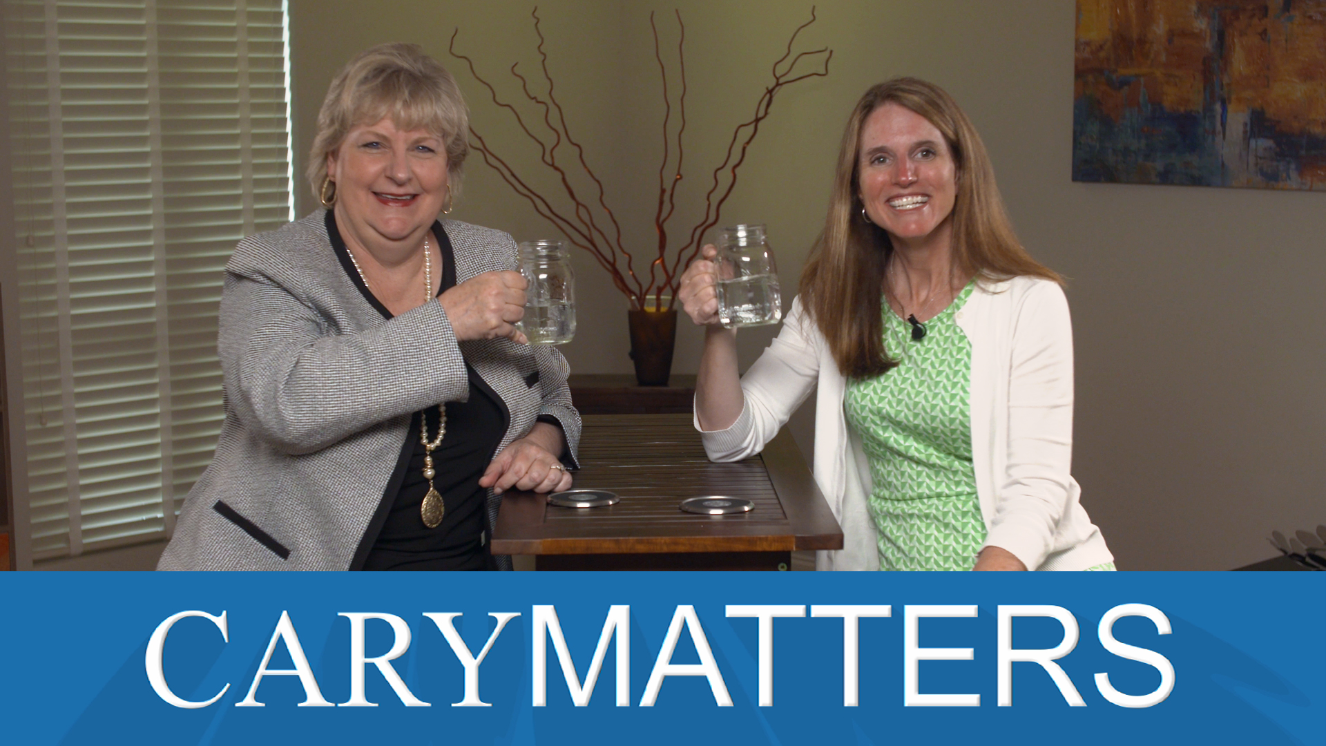 Jennifer Robinson and Karen Mills hosting Cary Matters