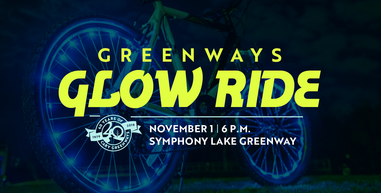 Greenways Glow Ride - November 1 at 6 p.m. on Symphony Lake Greenway