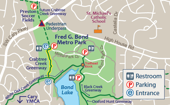 Crabtree Creek Greenway Map