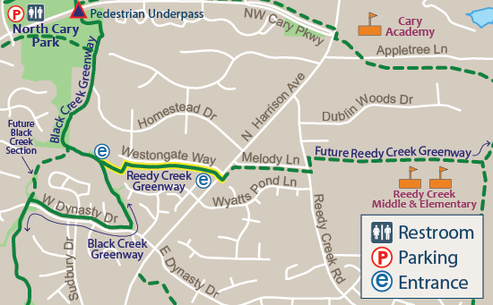 Reedy Creek Greenway Map
