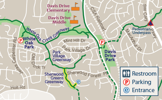 Sherwood Greens Greenway Map