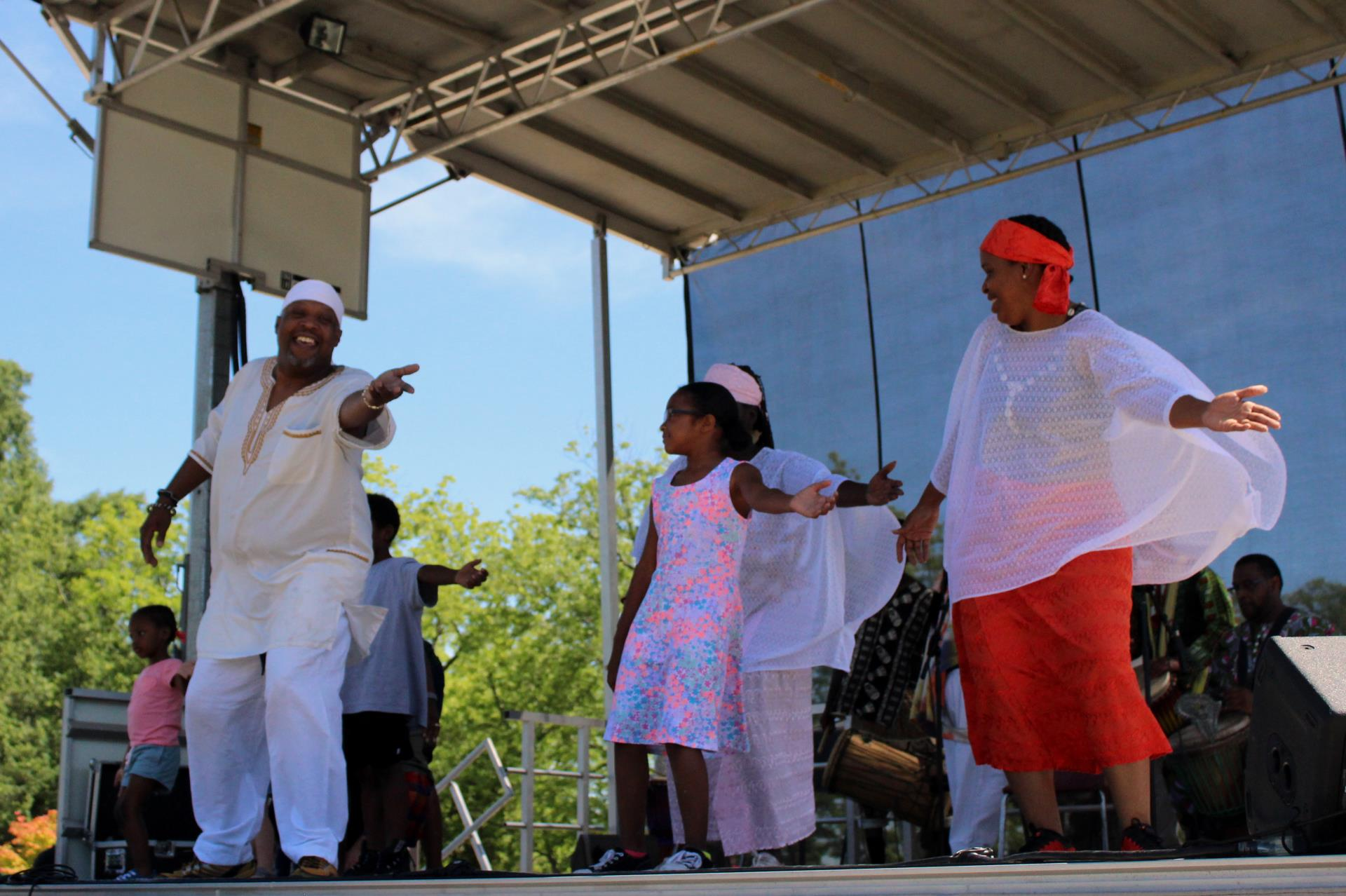 Musicians on stage at 2019 Cary Juneteenth Celebration