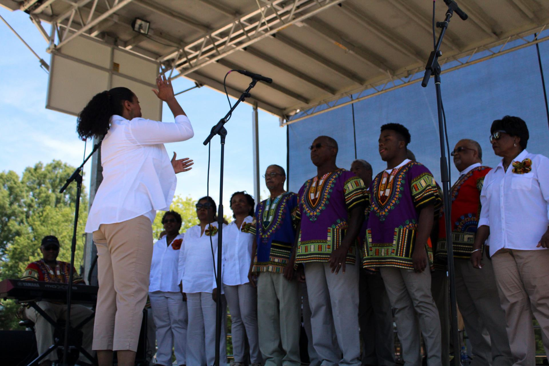Singers performing at 2019 Cary Juneteenth Celebration