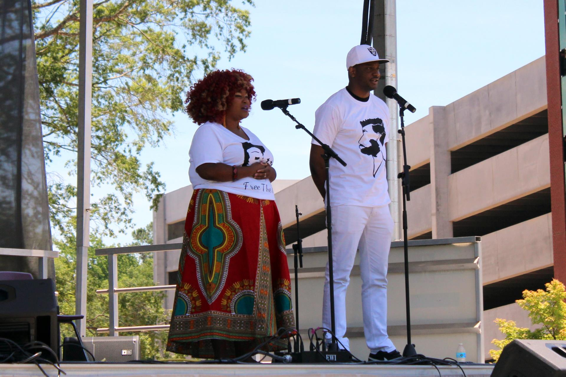 Singers onstage at 2019 Cary Juneteenth Celebration
