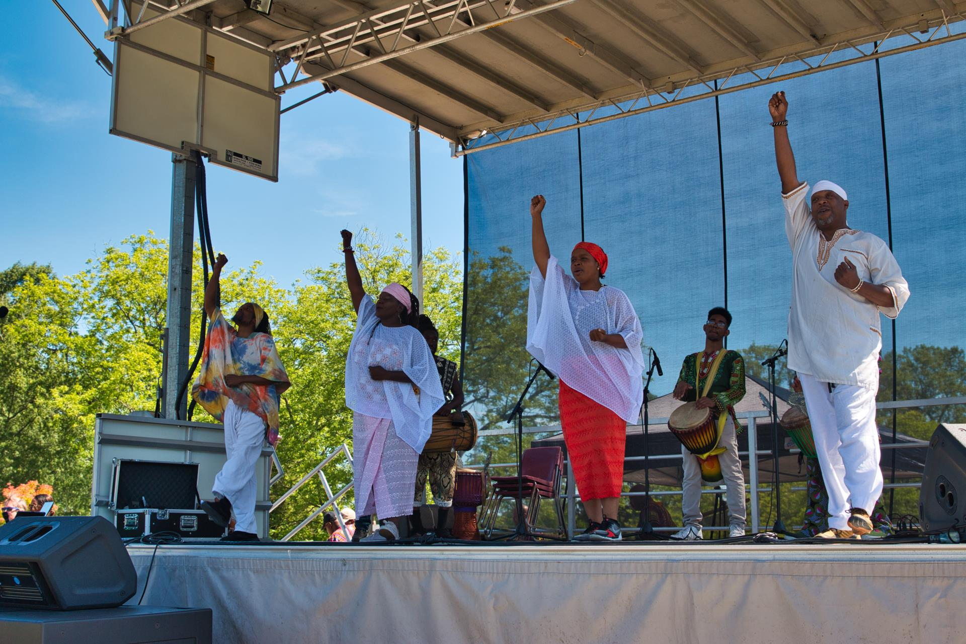 Stage celebrations at 2019 Cary Juneteenth Celebration