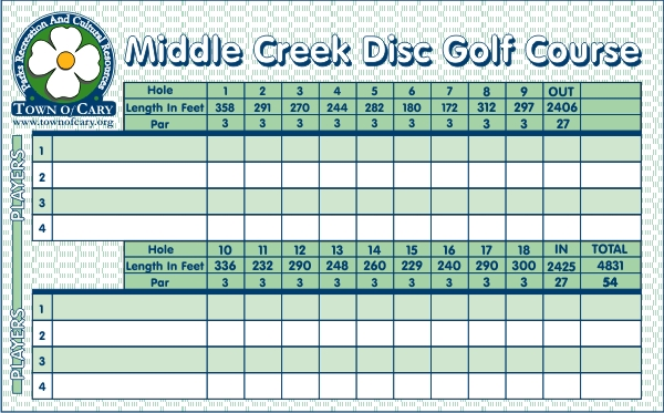 Candid image within disc golf scorecard printable