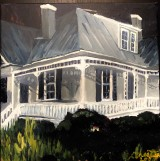 Painting of a white house