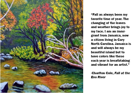 Charlton Cole_Fall at the Eno River