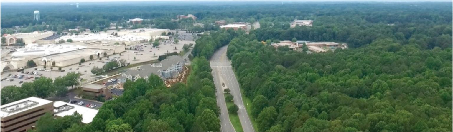 Aerial view of the Eastern Cary Gateway