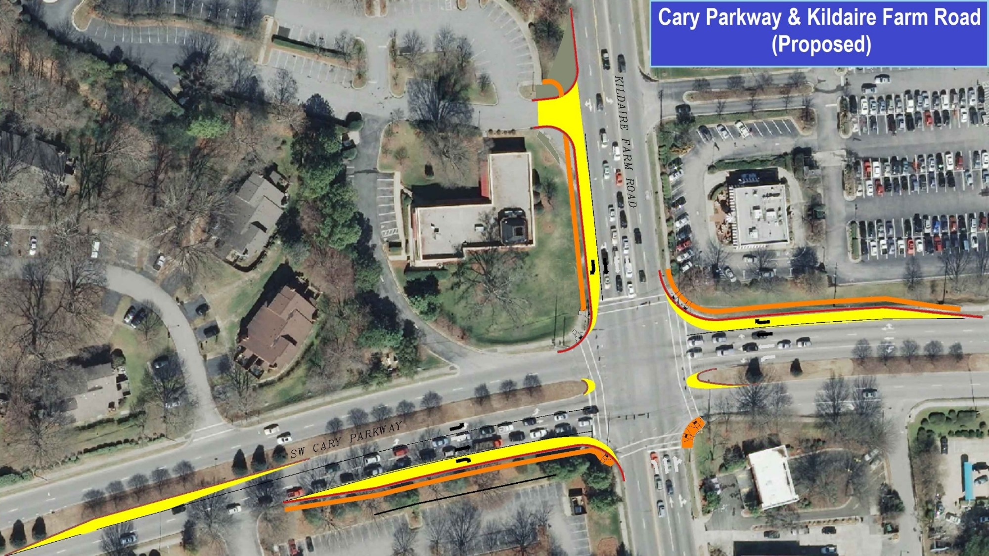 Kildaire Farm Road And Cary Parkway Intersection Improvements Town Of Cary