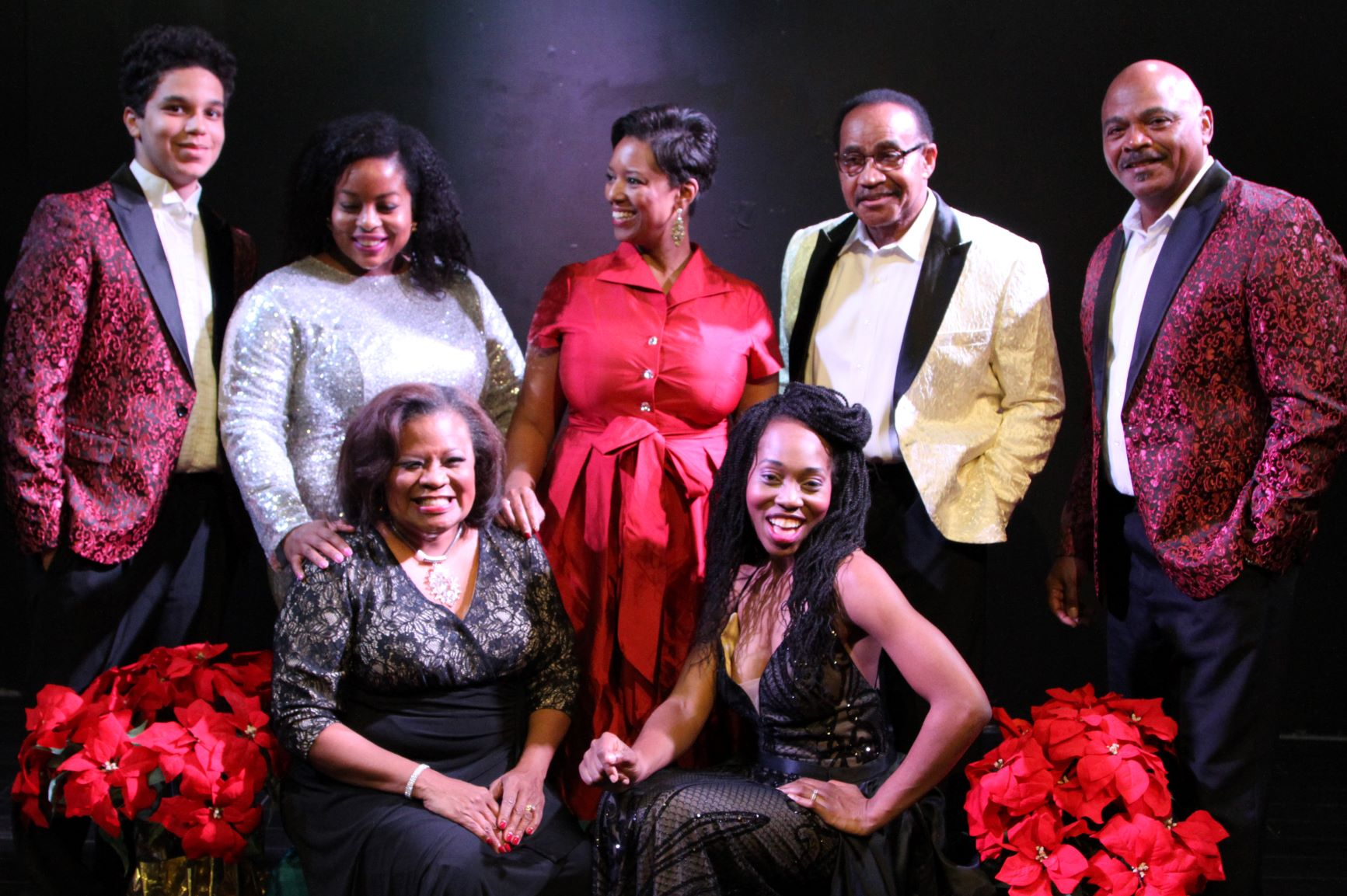 Group shot of Motown Christmas singers