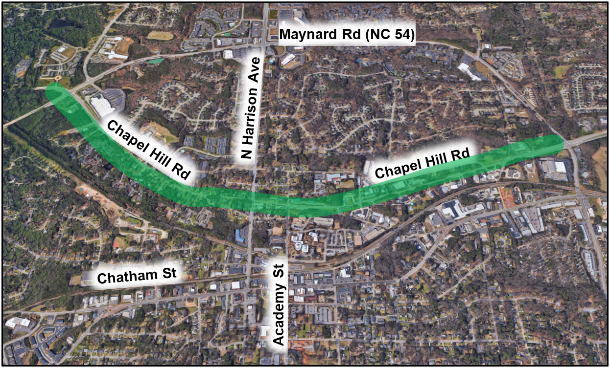 Project Area map for Chapel Hill Rd